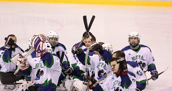 "Sledge Hockey Club ""Ugra"" won the fifth match at the Championship of Russia."